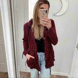Plaid Lightweight Hooded Jacket
